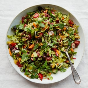 Anna Jones's chopped salad with honey dressing.