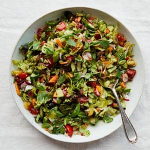 Anna Jones's chopped salad with honey dressing.