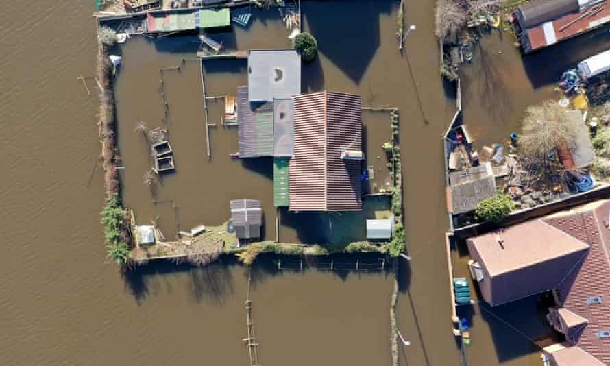 Flooding in Goole, east Yorkshire, March 2020.