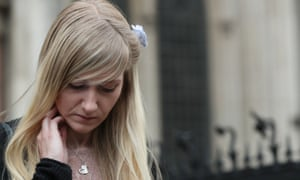 Charlie Gard's mother, Connie Yates, outside the high court after ending the legal fight over her son's treatment.