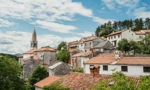 Scenic old town Štanjel in Slovenia.