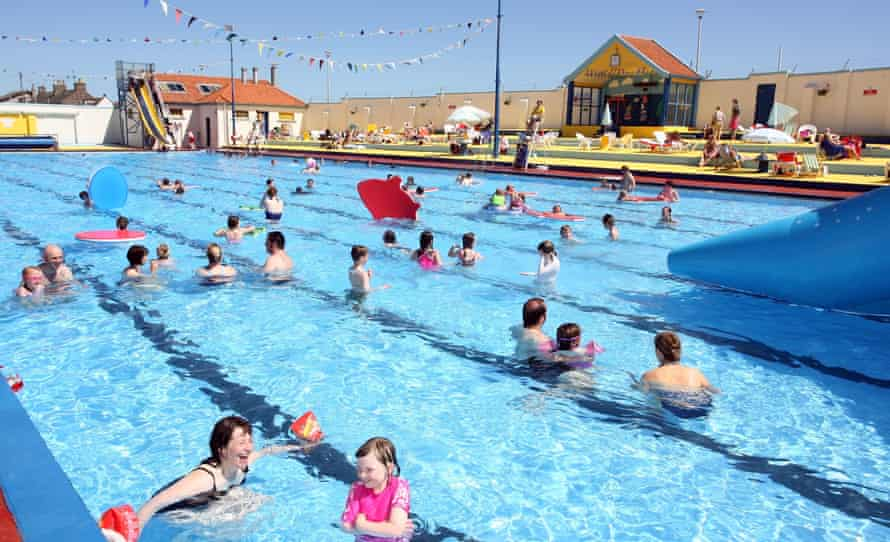 The open-air swimming pool at Stonehaven, Aberdeenshire.