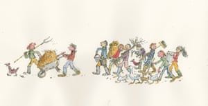 Cover illustration by Quentin Blake for Didn't We Have a Lovely Time written by Michael Morpurgo. Published by Walker Books Ltd, London.