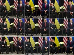 Donald Trump and his Ukrainian counterpart, Volodymyr Zelenskiy, meet at the UN in New York.