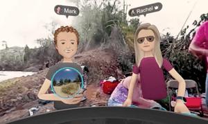 Mark Zuckerberg 'visiting' Puerto Rico in the virtual reality promo.