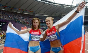 The Wada report recommended that Mariya Savinova (L), who won 800m gold at London 2012, and Ekaterina Poistogova, who finished third, be banned for life along with three other Russian athletes.