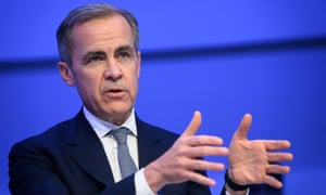 The Bank of England's governor, Mark Carney, attends a session during the World Economic Forum in Davos