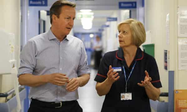 David Cameron Witney hospital