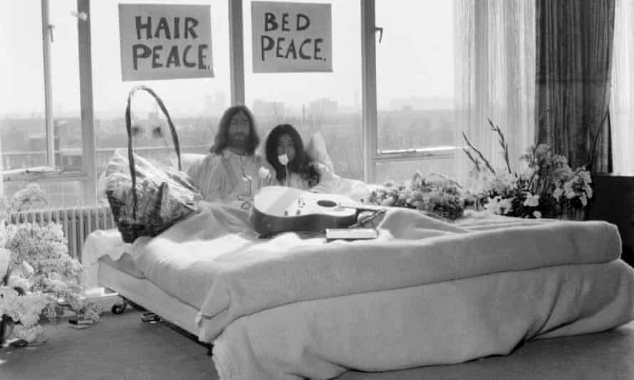 John and Yoko's bed-in.