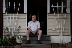 Craig Wilkinson at his home in New York state. In 2015, he was diagnosed with COPD and emphysema.
