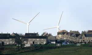 A wind farm close to village of Forth in Lanarkshire, Scotland