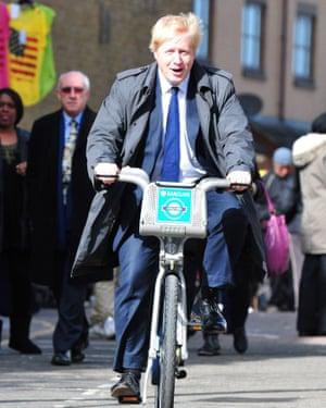 Boris Johnson as mayor of London in 2012.