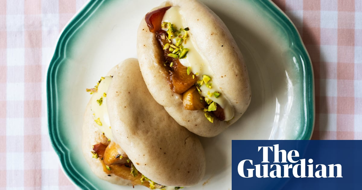Liam Charles' recipe for roasted peach bao buns