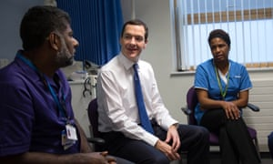 Chancellor George Osborne meets doctors and nurses at the Streatham High Practice in south London.