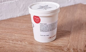 Pret soup with ingredients listed on the label