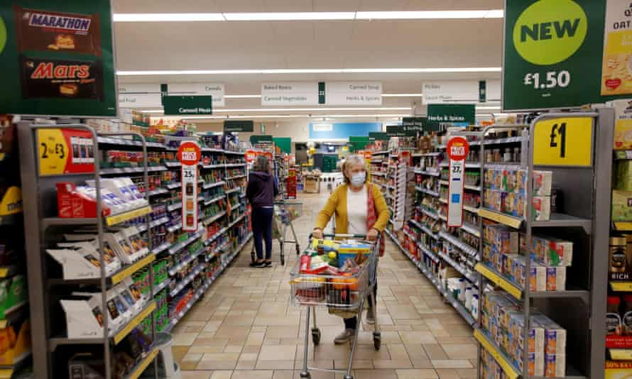 Inside a Morrisons store in St Albans, England