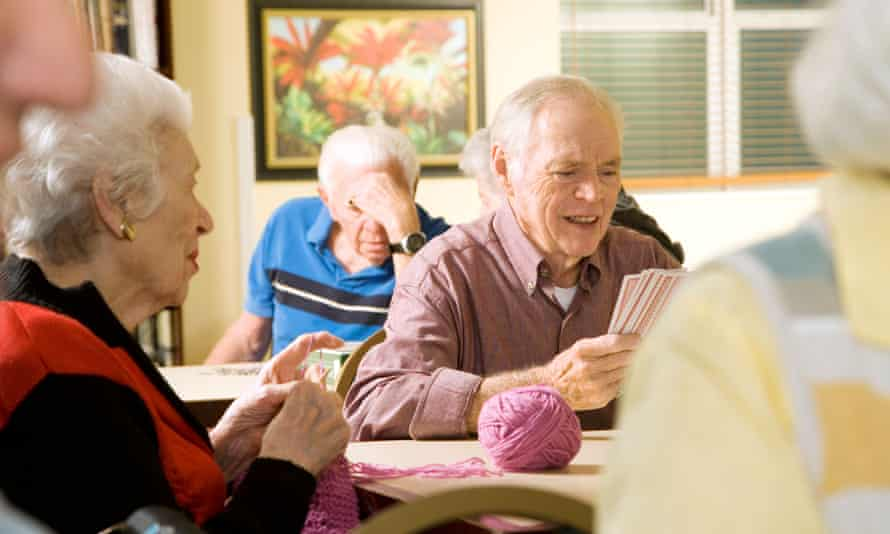 Residents in a retirement home.