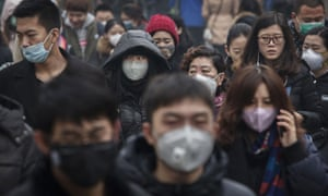 Air pollution in China is three times above World Health Organisation limits.