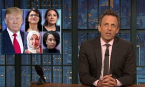 'Trump's brain disease won't let him backtrack no matter how far over the line he goes' ... Seth Meyers