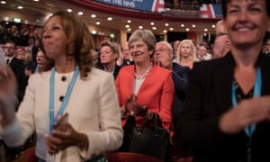 Prime minister Theresa May at the Conservative party conference.