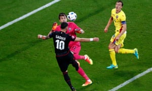 A historic goal by Armando Sadiku, Albania's first in a major tournament.