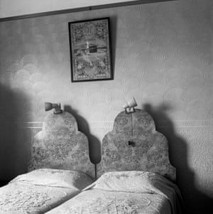 The bedroom of Ozzie and Sarah Docrat before its destruction under the Group Areas Act, Fietas, Johannesburg, 1977