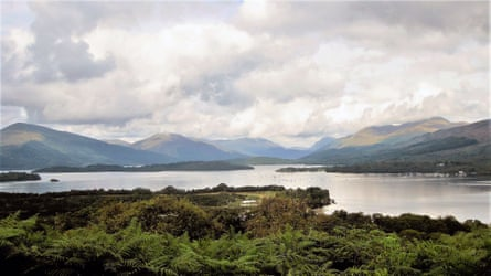 Inchcailloch, Loch Lomond, cloudy and sunny day