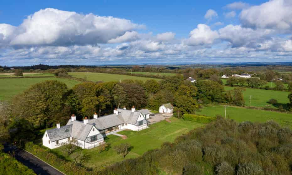 Winsford Cottage Hospital and the Devon countryside, UK