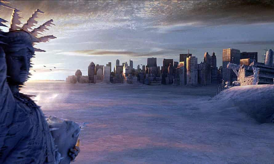 New York freezes in director Roland Emmerich's The Day After Tomorrow.