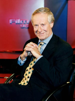 Barry Norman on the set of 'Film 96'