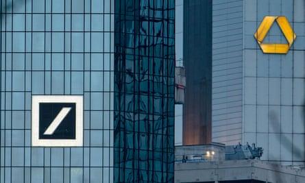 Deutsche Bank and Commerzbank buildings in Frankfurt
