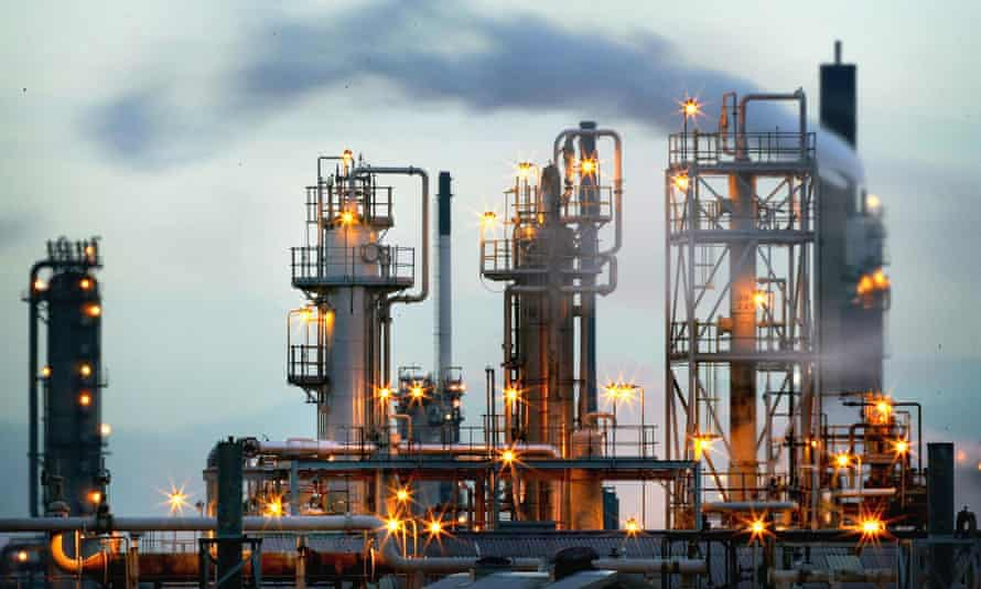 BP's oil refinery complex at Grangemouth in central Scotland