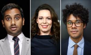 Who's got what it takes? Aziz Ansari, Olivia Colman and Richard Ayoade.