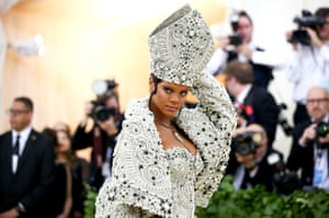 Rihanna's pope at the Met Gala