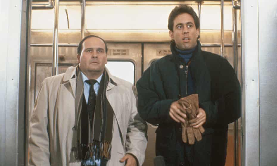 Ernie Sabella and Jerry Seinfeld in the Seinfeld episode The Subway.