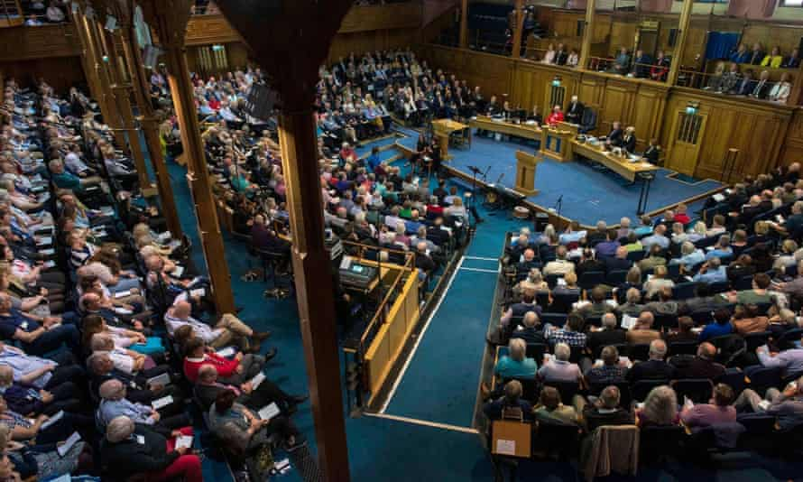 Church of Scotland general assembly, which had a closer result on the motion this year than last year.