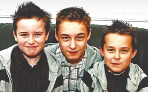 Brothers of James Bulger, pictured in 2006. From left: Leon, six, Michael, 12, and Thomas, seven