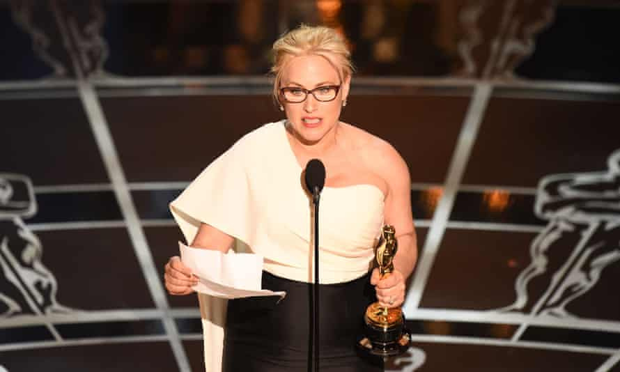Patricia Arquette speaks out for equal pay for women at this year's Oscars ceremony.