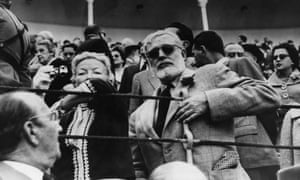 Hemingway with his wife Mary at a bullfight in 1959.