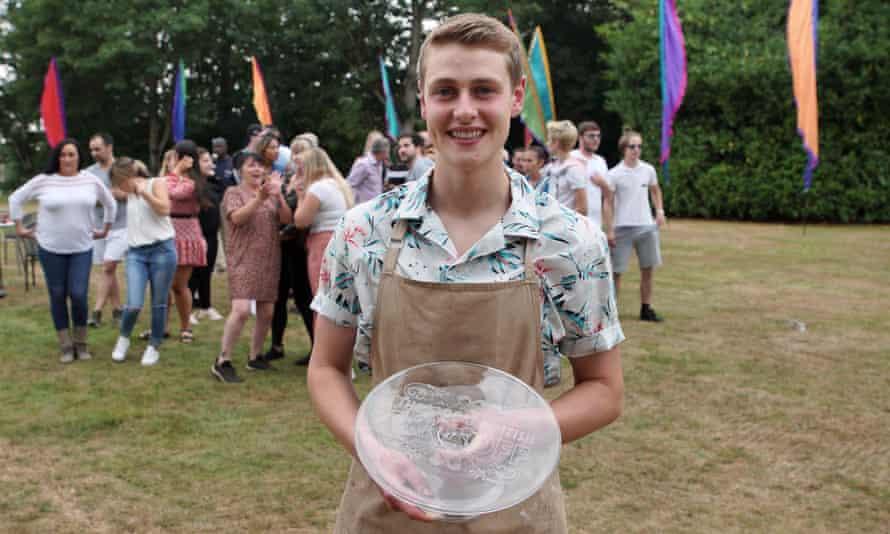 Peter Sawkins triumphs in The Great British Bake Off.