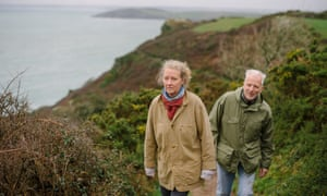 Raynor Winn, pictured near Poluran, Cornwall, with her husband Moth.