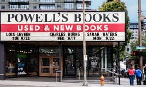 'I wish people could stay overnight' ... The store front of Powell's Books.