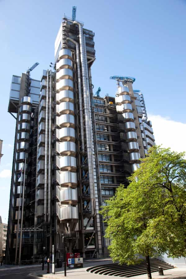 The Lloyd's building in London.