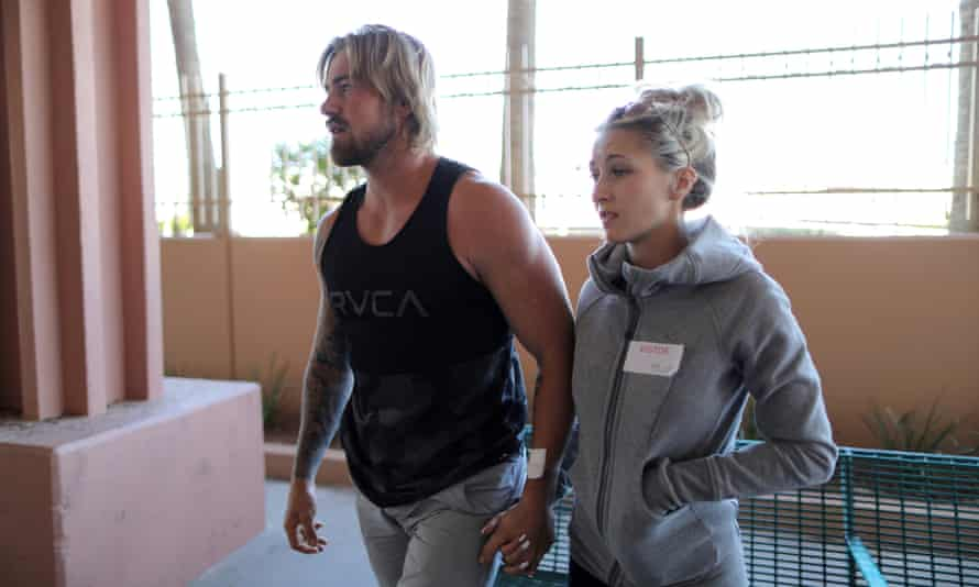 Braden Matejka and his girlfriend, Amanda Homulos. Matejka is among the shooting survivors facing harassment from conspiracy theorists.