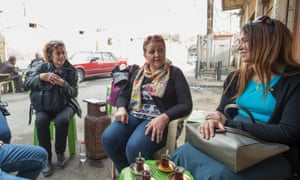 Director Maysoon Pachachi, production designer Raya Asee and co-writer Irada al-Jabbouri on a break during location scouting in Baghdad.
