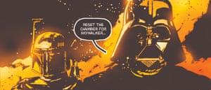 Star Wars darthdays panels artworks. Star Wars Episode VII: The Force Awakens re-imagine frames from the original trilogy as comic panels