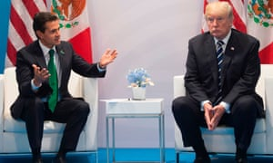 Trump with Mexican president Nieto in July, on the sidelines of the G20 summit in Hamburg.