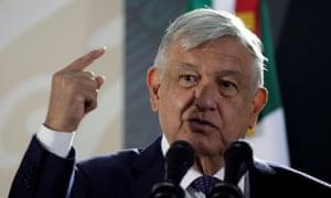 Andrés Manuel López Obrador speaks in Ciudad Juárez, Mexico, on 10 January.