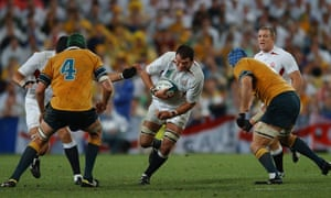 Martin Johnson was full of competative zeal for England.