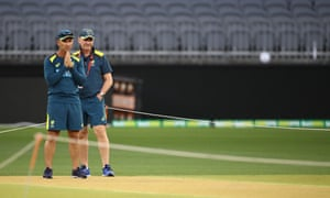 Australia coach Justin Langer and chairman of selectors Trevor Hohns